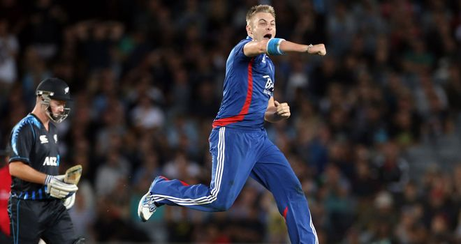 Luke Wright: Impressed in the first T20 clash with New Zealand