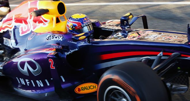 Mark Webber: Completed 101 laps on Wednesday
