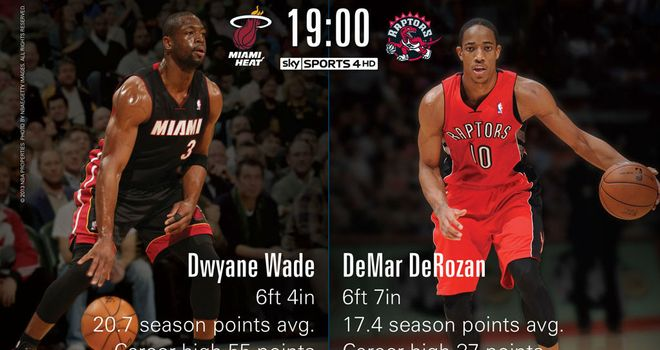 Dwayne Wade and DeMar DeRozan: Will be in action at the Air Canada Centre