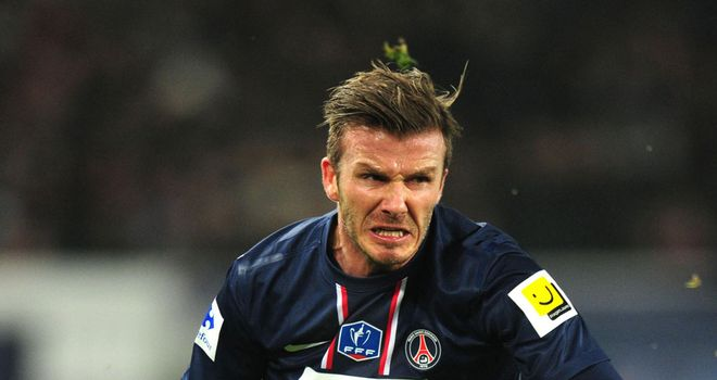 David Beckham: Hinted he would like to extend his stay at PSG