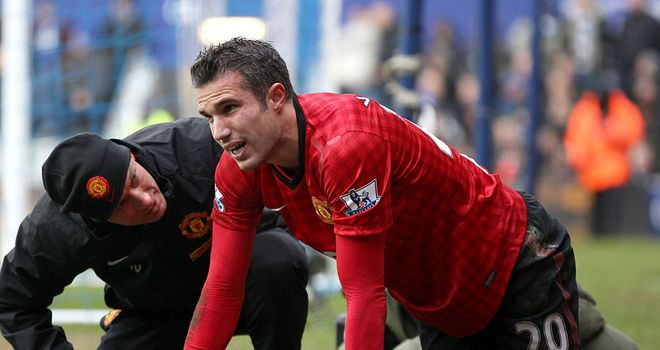 Robin van Persie: Hurt his hip in Manchester United's win at QPR