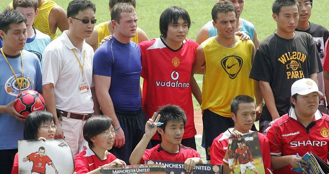 A teenage Wayne Rooney during United's summer tour of Hong Kong in 2005