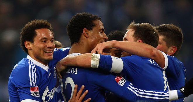 Celebrations for Schalke.