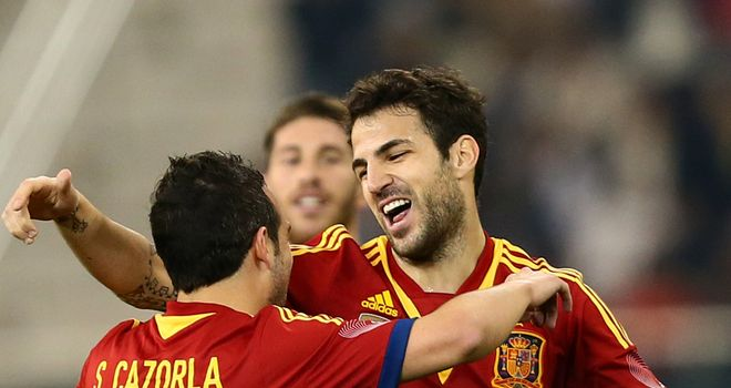 Cesc Fabregas's goal put Spain into the lead