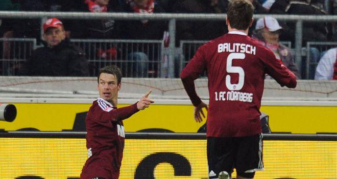 Markus Feulner scored Nurnberg's equaliser
