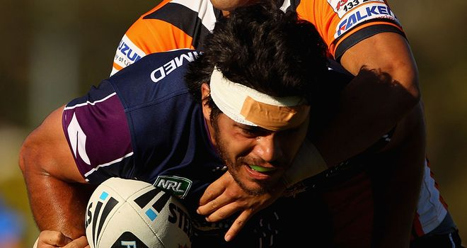 Tohu Harris: Set to start for Melbourne Storm against Leeds Rhinos
