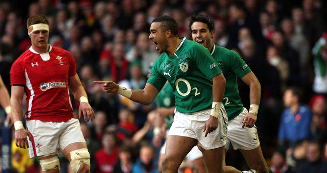 Simon Zebo: Scored the opening try for Ireland at the Millennium Stadium