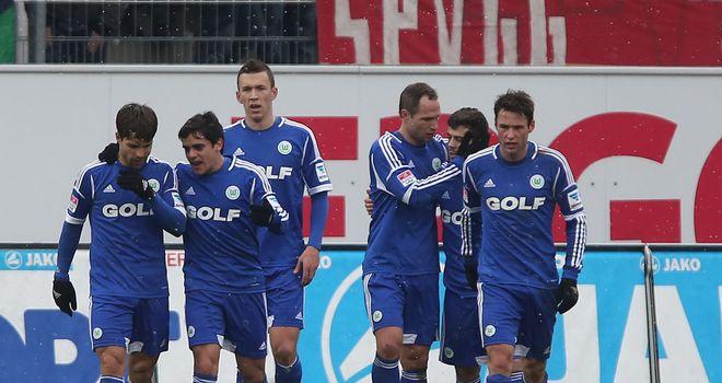 Bas Dost celebrates his winning goal