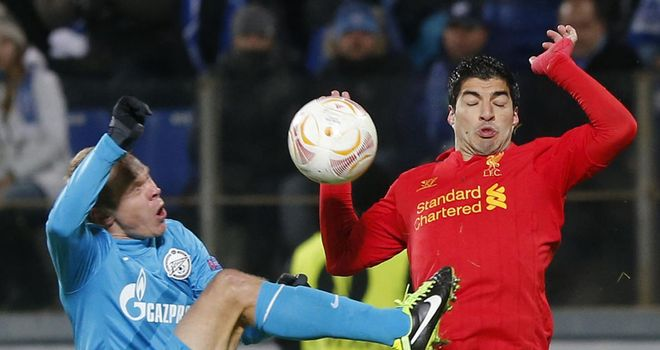 Luis Suarez: Endured a difficult night in St Petersburg