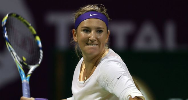 Victoria Azarenka: Needed just 67 minutes to book her place in the last eight in Doha