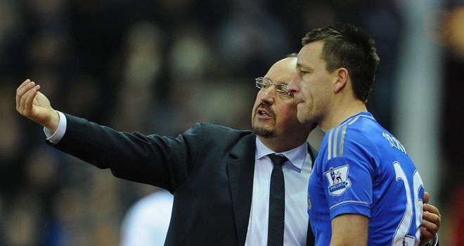 Rafa Benitez and John Terry: Reports of row flatly denied