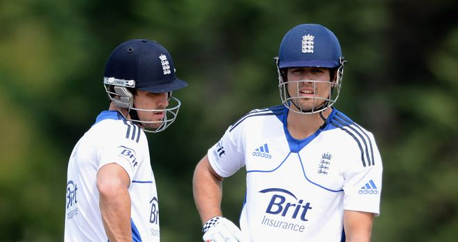 Nick Compton and Alastair Cook: Will resume their partnership in Dunedin