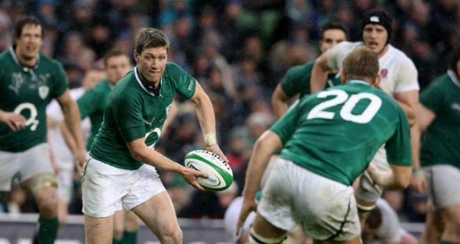 Ronan O'Gara in action against England