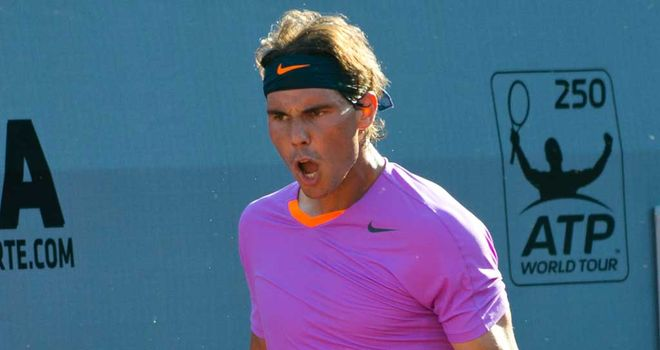 Rafael Nadal: won just one point in the opening two games of his second-round contest