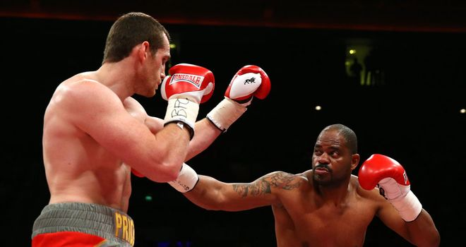 Tony Thompson (r): Aiming for a leaner look for his rematch with David Price