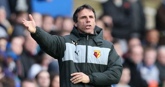 Gianfranco Zola: Watford manager delighted with 4-0 victory at Birmingham