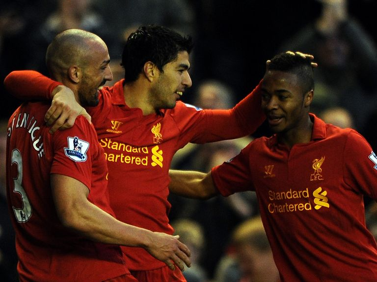Raheem Sterling (r): Could be set for a big role at Liverpool