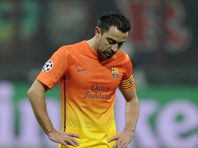 Frustration for Xavi as Barcelona lose at AC Milan.