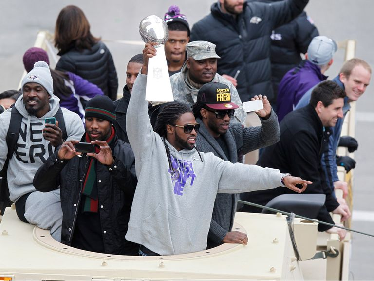 The Baltimore Ravens have a good time.