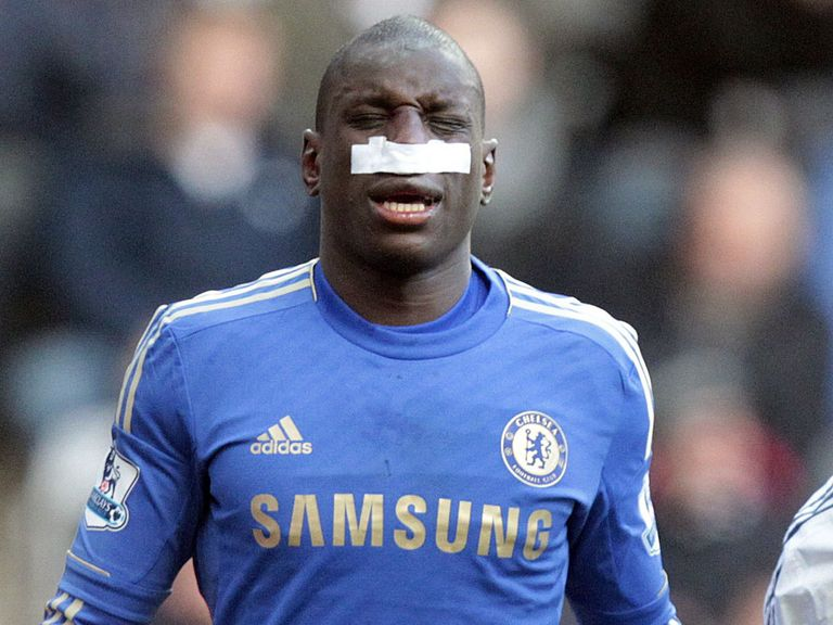 Demba Ba: Broke nose against Newcastle
