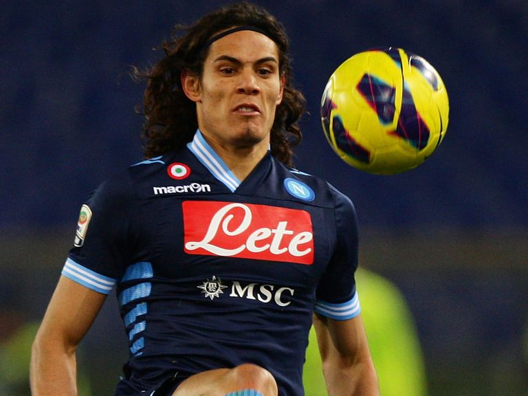 Edinson Cavani: Linked with a move away from the San Paolo