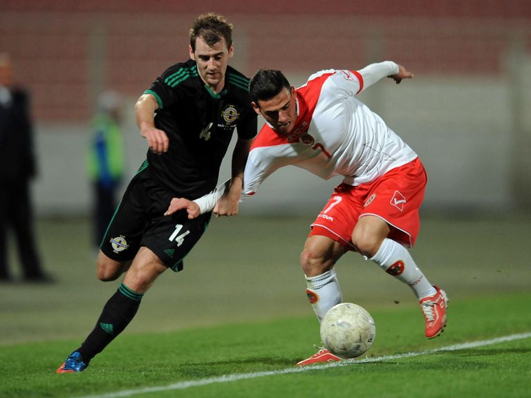 Niall McGinn: In action for Northern Ireland