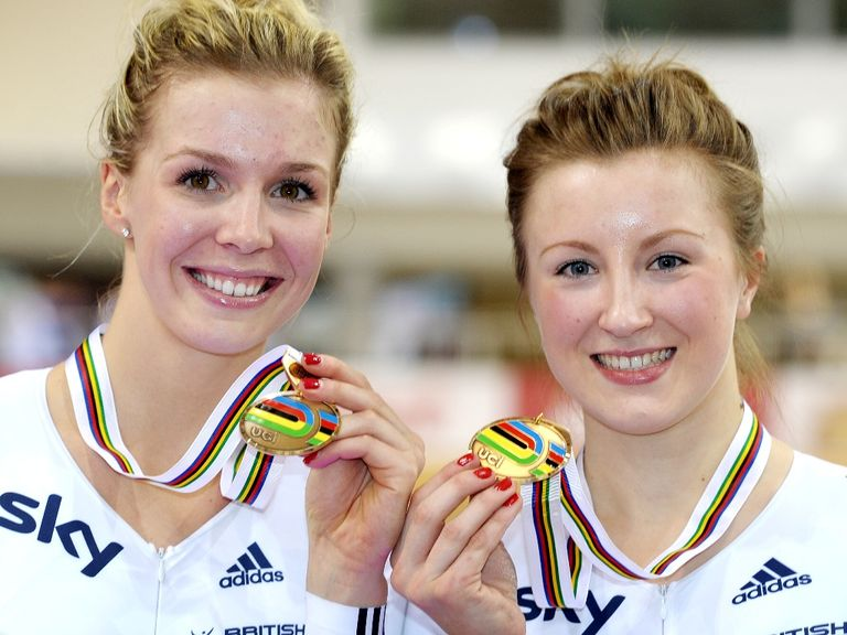 Becky James (left) won another medal