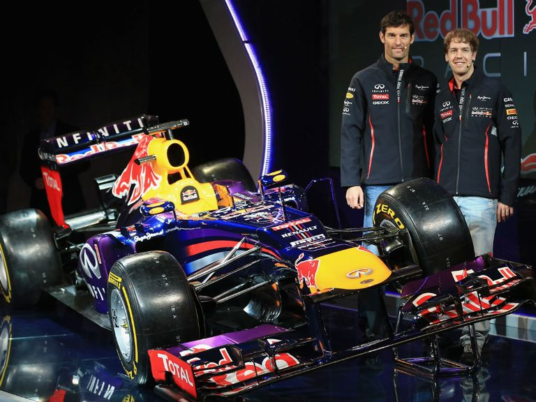 Red Bull unveil their new car on Sunday