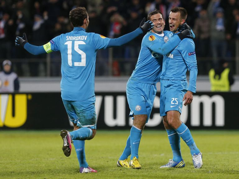 Zenit: Capable of a win at Anfield