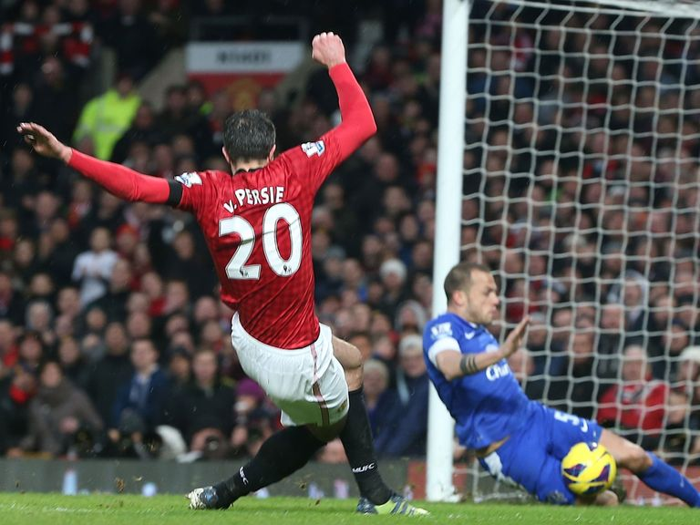 RVP and Man United are closing on the Premier League title