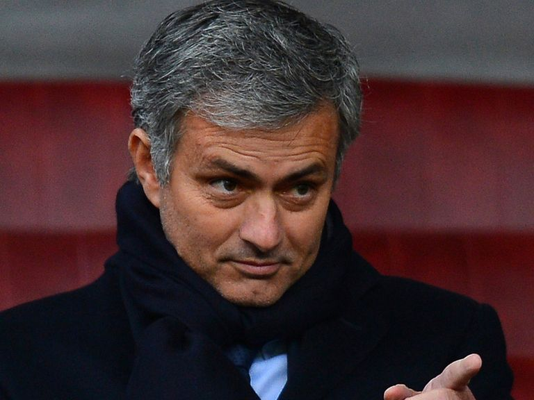 Jose Mourinho at Old Trafford on Sunday.