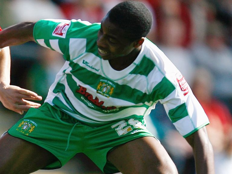 Jonathan Obika pictured during a previous loan spell with Yeovil