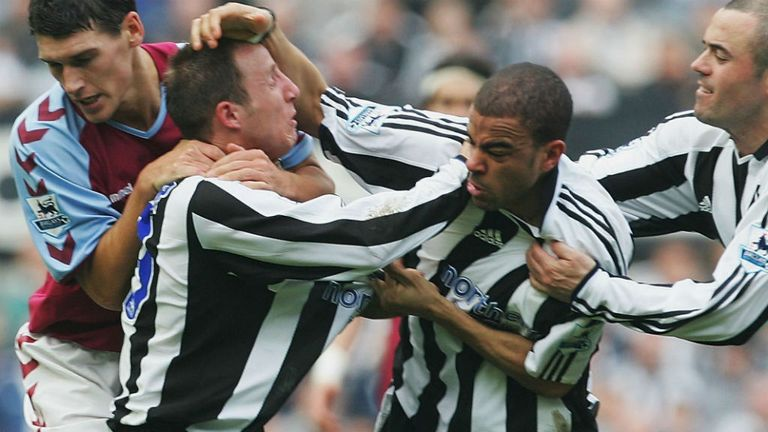 Bowyer and Dyer clash playing for Newcastle