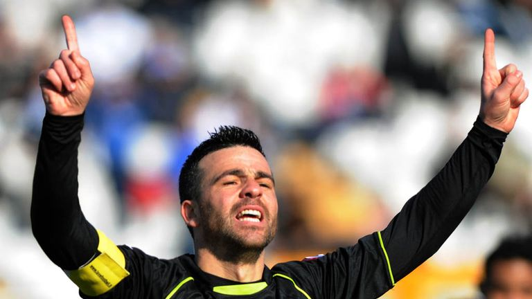 Antonio Di Natale celebrating his 150th Serie A goal for Udinese against Pescara on 3 March