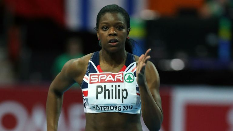 Asha Philip: Through to the semi-finals of the 60 metres