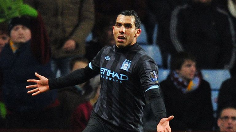 Tevez: netted the decisive goal just before half-time
