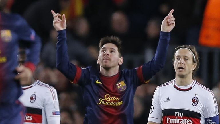 Lionel Messi: In majestic form for Barcelona in their incredible win over AC Milan