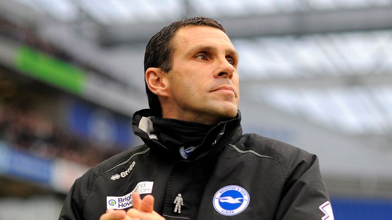 Gus Poyet: Has decided to remain with Brighton.