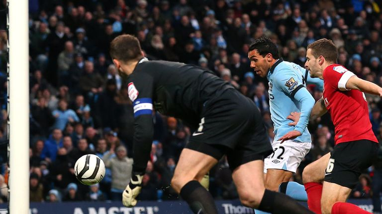 Carlos Tevez: Man City striker is 'unplayable' after hat-trick against Barnsley