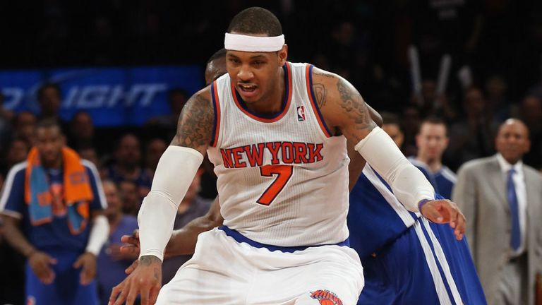 Carmelo Anthony: Helped the Knicks clinch a play-off berth with victory in Toronto