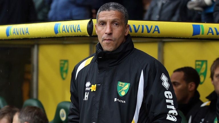 Chris Hughton: Norwich manager focused on remaining four home matches