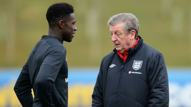 Danny Welbeck (L): Missed England training on Monday morning