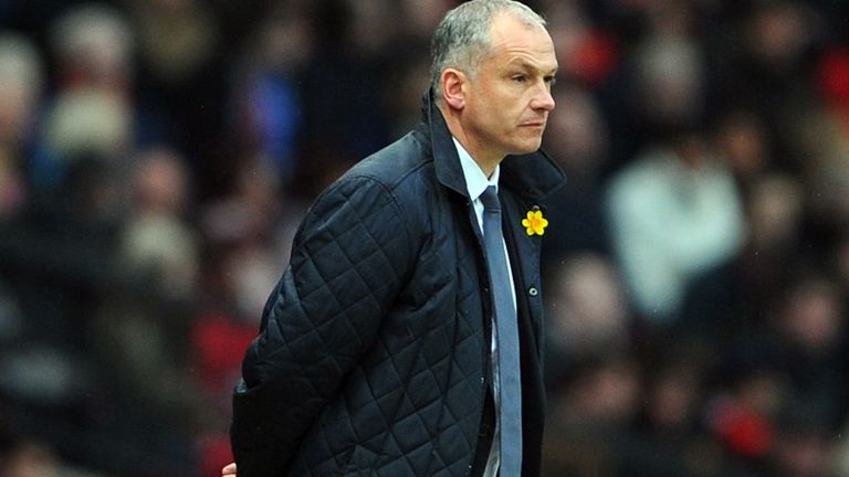 Eamonn Dolan: Unhappy after defeat by Manchester United at Old Trafford