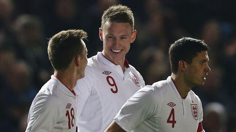 Connor Wickham: Celebrates goal for England U21s against Austria