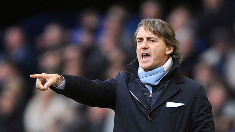 Roberto Mancini: Has already conceded the Premier League title to Manchester United