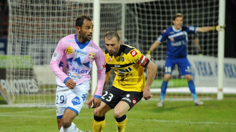 Saber Khelifa: Evian striker has been linked with Southampton and West Brom