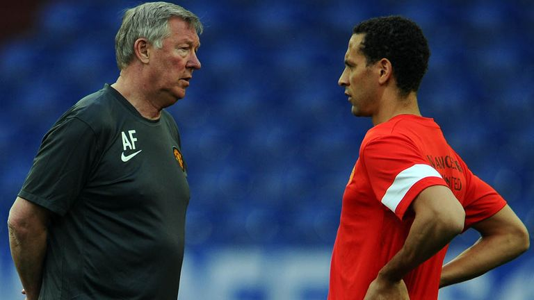 Sir Alex Ferguson (left): Backing Ferdinand to handle fans' abuse
