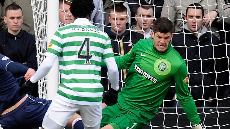 Fraser Forster was in action in Dingwall