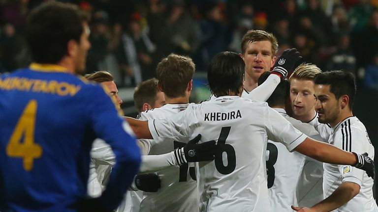 Marco Reus: Celebrates his goal for Germany