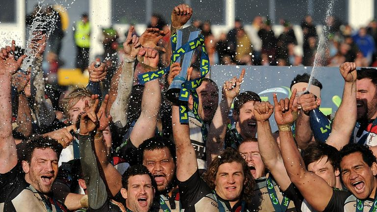 Harlequins claimed the first domestic silverware of the season